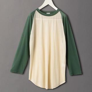 ビューティアンドユースユナイテッドアローズ(BEAUTY&YOUTH UNITED ARROWS)の6(ROKU)>SHEER RAGLAN SLEEVE T-SHIRT(Tシャツ/カットソー(七分/長袖))