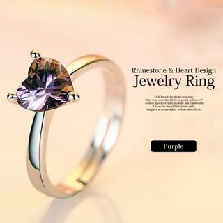 【新品】ハートのパープルストーンリング(リング(指輪))