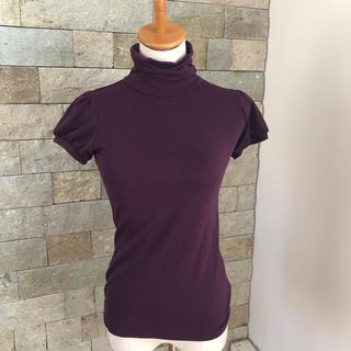 アーモワールカプリス(armoire caprice)のパープル半袖タートルカットソー(カットソー(半袖/袖なし))
