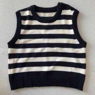 コムサイズム(COMME CA ISM)の子供服 コムサイズム ノースリーブボーダーニット(ニット/セーター)