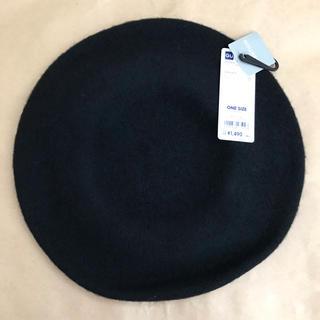 ジーユー(GU)のジーユー ベレー帽 黒(ハンチング/ベレー帽)