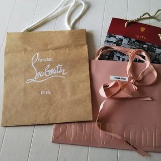 クリスチャンルブタン(Christian Louboutin)のショップ袋 紙袋  ルブタン miu miu agate(ショップ袋)