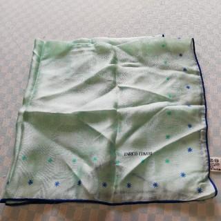 エンリココベリ(ENRICO COVERI)の未使用 シルク ENRINCO COVERI プチスカーフ ミントグリーン(バンダナ/スカーフ)