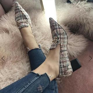 エイミーイストワール(eimy istoire)のMALHIA K ミックス ツイードローファー(ローファー/革靴)