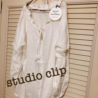スタディオクリップ(STUDIO CLIP)のstudio clip リネンレーヨンタッセル付きブラウス(シャツ/ブラウス(長袖/七分))