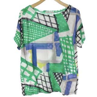 ツモリチサト(TSUMORI CHISATO)のused ツモリチサト トップス カットソー Tシャツ 緑 グリーン 綿100%(Tシャツ(半袖/袖なし))