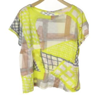 ツモリチサト(TSUMORI CHISATO)のused ツモリチサト カットソー Tシャツ イエロー 綿100%(Tシャツ(半袖/袖なし))