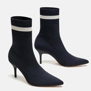 ザラ(ZARA)の大幅値下げ!ZARA【ソックスブーツ 37サイズ 替えヒール付】正規品(ブーツ)