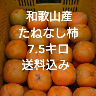 和歌山産 たねなし柿 7.5キロ 送料込み(フルーツ)