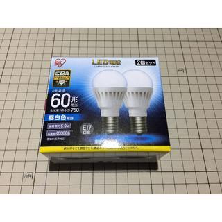 アイリスオーヤマ(アイリスオーヤマ)の【新品】アイリスオーヤマ LED電球 E17 60型 昼白色 2個入×1箱(蛍光灯/電球)