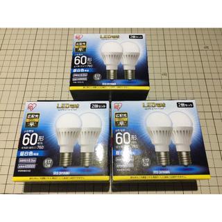 アイリスオーヤマ(アイリスオーヤマ)の【新品】アイリスオーヤマ LED電球 E17 60型 昼白色 2個入×3箱(蛍光灯/電球)