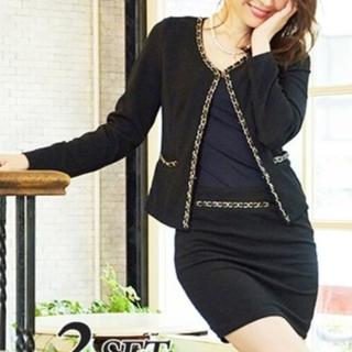 デイジーストア(dazzy store)のスーツ風チェーンデザインセットアップツーピースミニドレス(セット/コーデ)