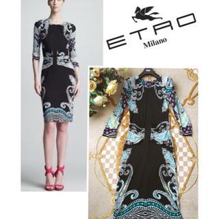 エトロ(ETRO)のセール☆極美品 ETRO エトロ 洗練 コンフォート エレ女 ドレス(ひざ丈ワンピース)