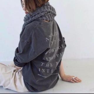 トゥデイフル(TODAYFUL)のTODAYFUL バックプリントロングT 2019AW 新品未使用 ブラック(Tシャツ(長袖/七分))