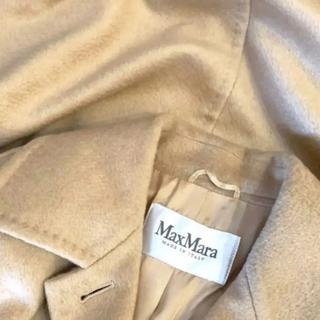 マックスマーラ(Max Mara)のくぅ~様専用‼️最高級 白タグ マックスマーラキャメル100%ガウンロングコート(ロングコート)