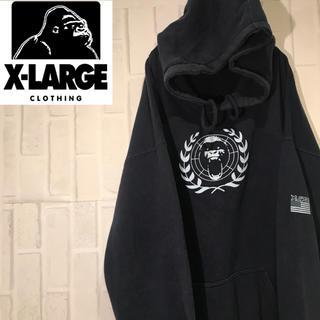 エクストララージ(XLARGE)の【激レア】90s エクストララージ  ビックロゴ  ワンポイントロゴ パーカー(パーカー)