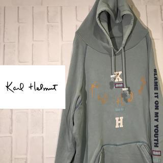 カールヘルム(Karl Helmut)の【オススメ】カールヘルム パーカー ビックロゴ  ビックサイズ(パーカー)