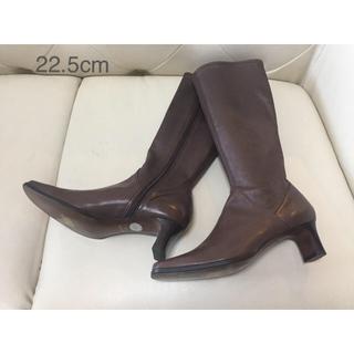 ナチュラルビューティーベーシック(NATURAL BEAUTY BASIC)のナチュラルビューティーベーシック 本革(レザー)ロングブ-ツ 22.5cm(ブーツ)