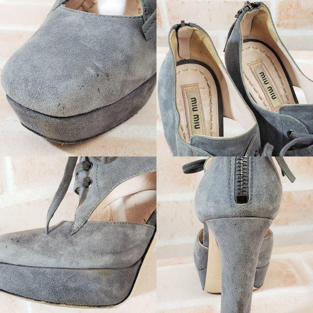 miumiu(ミュウミュウ)のミュウミュウ ☆ スエードレザー ブーティ サンダル 34 伊製 レディースの靴/シューズ(ブーティ)の商品写真