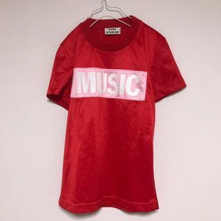 アクネ(ACNE)のAcne STUDIOS アクネ Tシャツ MUSIC ロゴ 赤 レッド(Tシャツ(半袖/袖なし))