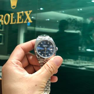 ロレックス(ROLEX)のrolex dayjust 41mm 10p 青い文字板(腕時計(アナログ))