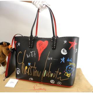 クリスチャンルブタン(Christian Louboutin)のクリスチャンルブタン カバタトートバッグ 限定ペイント 黒 ショルダーバッグ(トートバッグ)