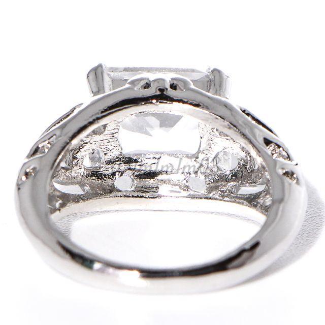 W15 リング 15号 シルバー 人工石 ホワイトサファイア レディースのアクセサリー(リング(指輪))の商品写真