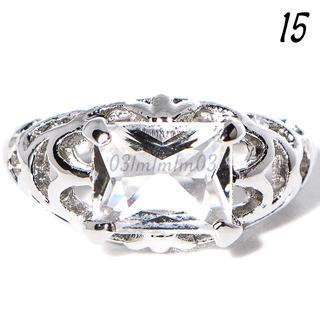 W15 リング 15号 シルバー 人工石 ホワイトサファイア(リング(指輪))