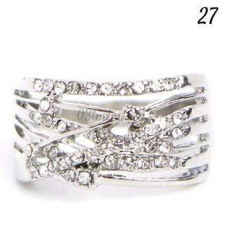 W16 リング 27号 人工石 ホワイトサファイア 大きいサイズ(リング(指輪))