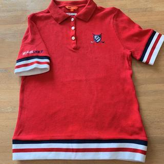 ビームス(BEAMS)のビームスゴルフ ポロシャツ 赤(ウエア)