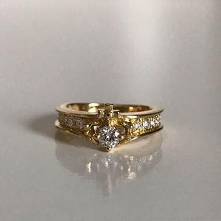 ジャスティンデイビス(Justin Davis)のダイヤモンド リング k18 (リング(指輪))