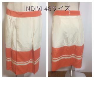 インディヴィ(INDIVI)のINDIVI 48サイズ(*^^*)39(ひざ丈スカート)