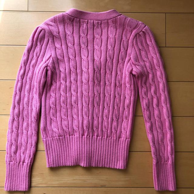 POLO RALPH LAUREN(ポロラルフローレン)のラルフローレン 130cm ピンク ニットカーディガン  キッズ/ベビー/マタニティのキッズ服 女の子用(90cm~)(カーディガン)の商品写真