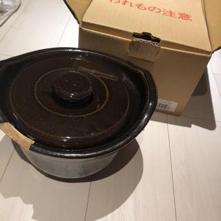 ムジルシリョウヒン(MUJI (無印良品))の無印良品 土釜おこげ 3合炊き(炊飯器)