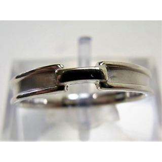 K14WG 14金ホワイトゴールド リング 指輪 サイズ#15.5 男女兼用(リング(指輪))