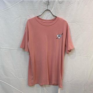 ローズバッド(ROSE BUD)のROSE BUD ローズバッド 刺繍ハートTシャツ ピンク 新品(Tシャツ(半袖/袖なし))