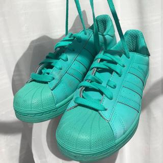 アディダス(adidas)のアディダス スーパスター ハイパーグリーン adidas superstar (スニーカー)