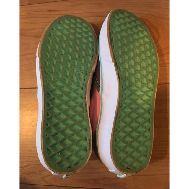 VANS(ヴァンズ)の専用 VANS バンズ スリッポン スニーカー ピンク エメラルドグリーン キッズ/ベビー/マタニティのキッズ靴/シューズ (15cm~)(スニーカー)の商品写真