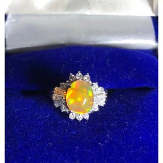 オパール ダイヤモンド プラチナリング(リング(指輪))