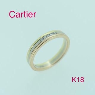 カルティエ(Cartier)の☆大人気☆カルティエ  トリニティリング  ダイヤ K18  (リング(指輪))