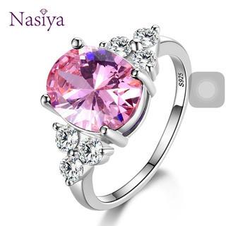 可愛いプラチナ925ピンクダイヤモンドの指輪(リング(指輪))