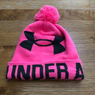 アンダーアーマー(UNDER ARMOUR)のアンダーアーマー  ニット帽  ピンク(ニット帽/ビーニー)