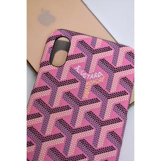 ゴヤール(GOYARD)のiPhone X XS用   ロゴケース  ピンク(iPhoneケース)