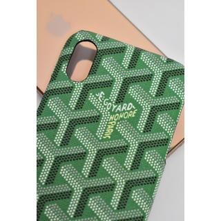 ゴヤール(GOYARD)のiPhone X XS用  ロゴケース    グリーン(iPhoneケース)