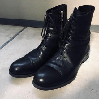 ポールハーデン(Paul Harnden)のportaille サイドジップブーツ ヒール prada guidi 革靴(ブーツ)