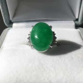 ダイヤモンド×天然石 リング Pt900 0.20ct 7.9g(リング(指輪))