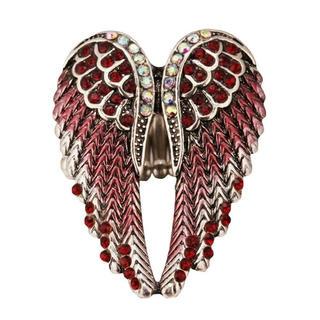 特価高品質!大天使の羽根のリング 赤 フリーサイズ 男女兼用 8号~23号相当(リング(指輪))