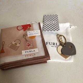 フルラ(Furla)のフルラ☆美品ハートキーホルダーハンカチ2点セット(キーホルダー)