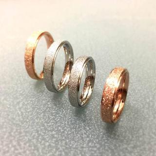 サイズ充実★キラキララメチタンステンレスリング指輪 幅4mm版 (リング(指輪))