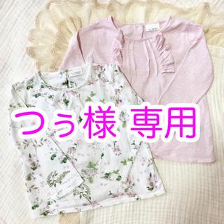 ネクスト(NEXT)のNEXT 花柄&ピンクのトップスセット 12-18m 86cm(シャツ/カットソー)